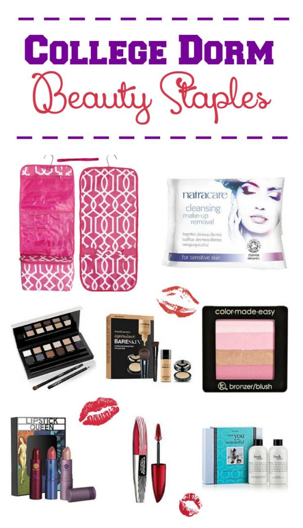 Look great day or night at college with these dorm living must-have beauty staples! Pare down your huge makeup collection to just a few essentials that work for every occasion.