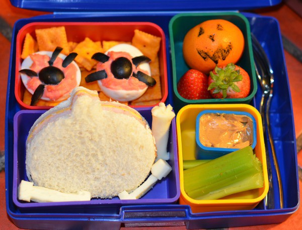 Back to school lunch idea: Halloween Bento Box