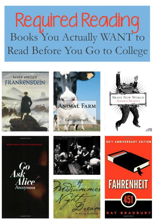Required Reading: 7 Novels You Actually WANT to Read Before College