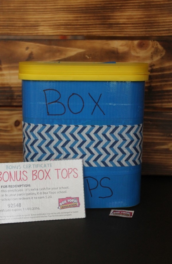 Make this easy Box Tops for Education Drop Box so you don't forget to send these valuable clippings in to your child's school!