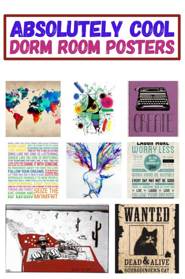Ditch the drab beige dorm walls with these absolutely cool posters that look amazing on your dorm room wall!