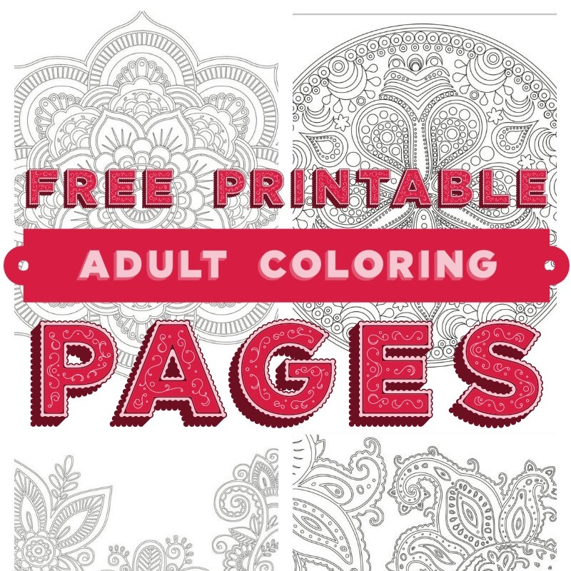 Quick Relaxation Tips Free Adult Coloring Printable Pages