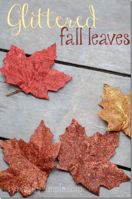 Glittered-Fall-Leaves-DIY
