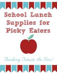 School lunch supplies picky kids