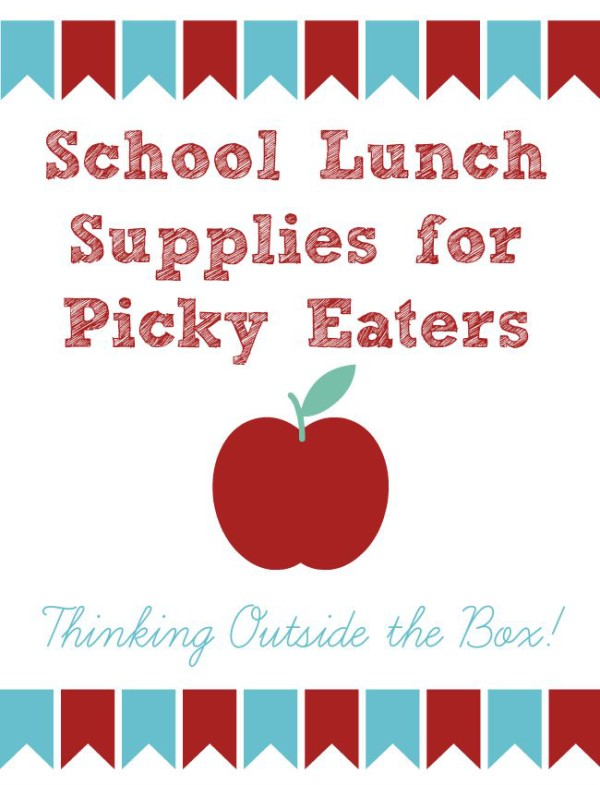 School lunch supplies picky kids