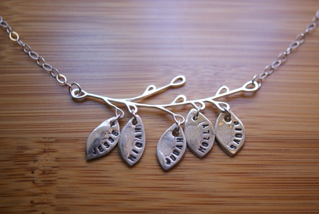 Simpli Stamped Custom Family Tree Branch Necklace