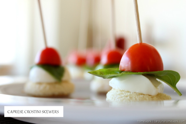 Tomato Basil Mozzarella Crostini Skewers via homework (7)[4]