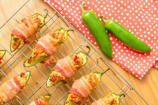 Tuna Stuffed Bacon Wrapped Jalapeno Poppers
