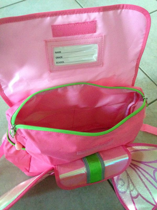After a quick glance my daughter was absolutely delighted to check out the Fairy Flyer backpack further.