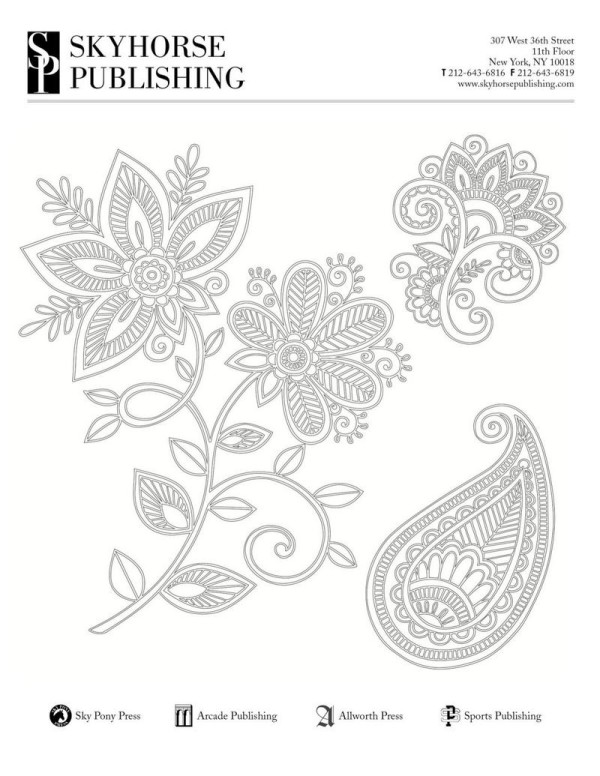 Need a quick way to relax? Download and print this free coloring page (along with four others!).