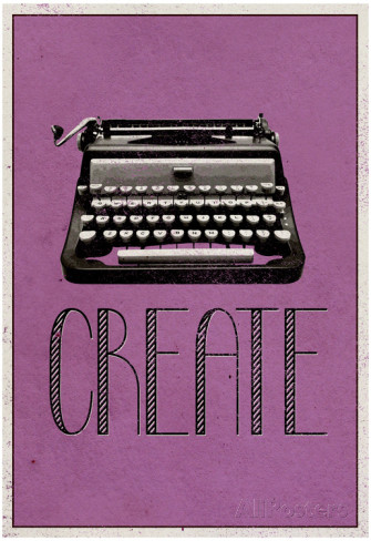 create-retro-typewriter-player-art-poster-print