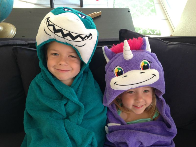 Comfy Critters Huggable Hooded Blankets for Kids