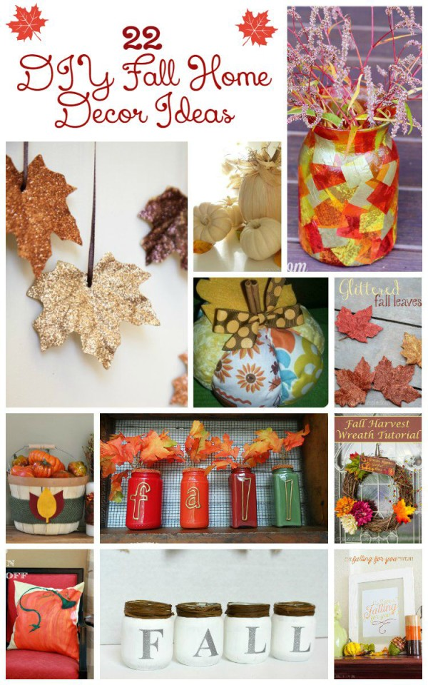 Make a stunning statement with these 22 beautiful and fun DIY fall home decor crafts!