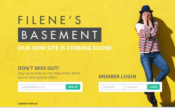 Filenes Basement Signup