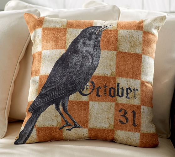 Halloween Crow Pillow