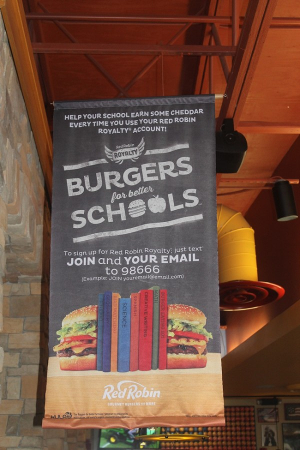 Red Robin Burgers for Better Schools program
