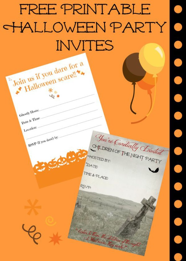Free Printable Halloween Invitations for Your Super Spooktacular Parties + Tips on how to make them yourself