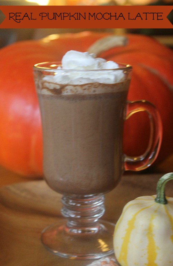 I spent hours perfecting this real pumpkin mocha latte, made with pumpkin puree, espresso and other delicious ingredients!