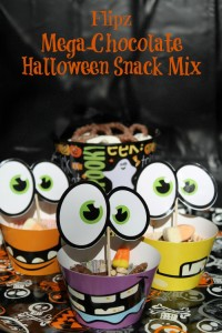 You'll flip for this easy Flipz Mega-Chocolate Halloween Snack Mix! Perfect for parties when you don't have time (or energy) to bake dozens of cupcakes!