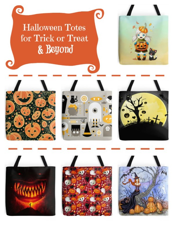 Super awesome, beyond cool Halloween Trick or Treat Tote Bags that you can actually use all season long