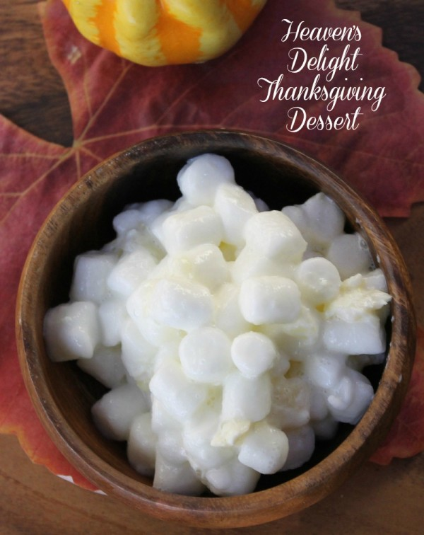 This Heavens Delight Pineapple Marshmallow dessert is one of the easiest Thanksgiving dessert recipes you'll ever make!