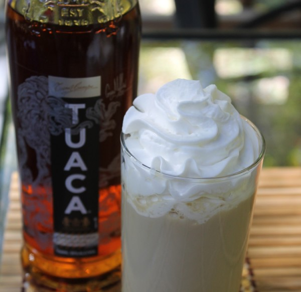 Spiked Caramel Macchiato Recipe made with TUACA liqueur