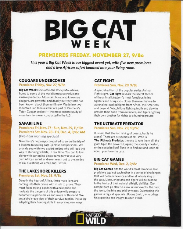 Celebrate 10 Days of Wildness with Nat Geo WILD's Thanksgiving Lineup! Check out the schedules plus details on their online bingo game to win your very own African safari!