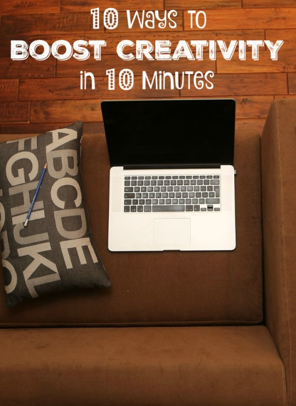 Got 10 minutes? Check out 10 fun & easy ways to boost your creativity without ever leaving your house!