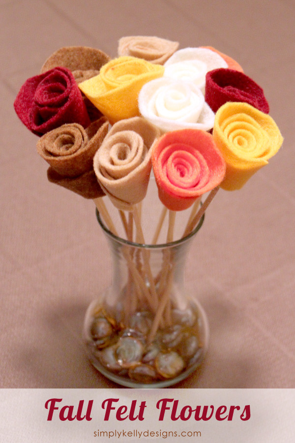 Fall Felt Flowers Thanksgiving ideas