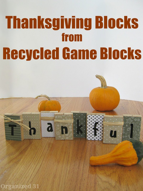 Thanksgiving blocks Thanksgiving craft