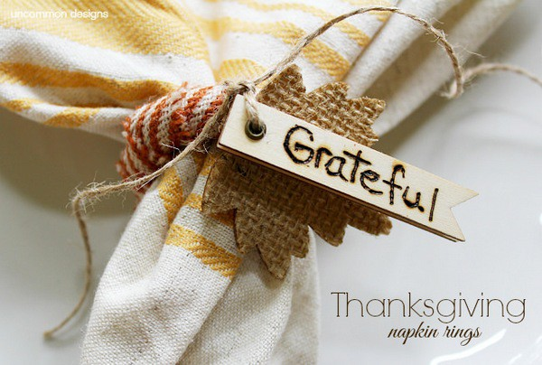 Thanksgiving-napkin-rings-uncommon-designs Thanksgiving craft