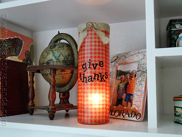Give Thanks Vase Thanksgiving decor