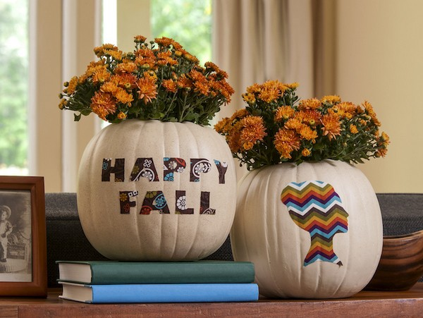 Stencil Pumpkin Thanksgiving ideas for decor
