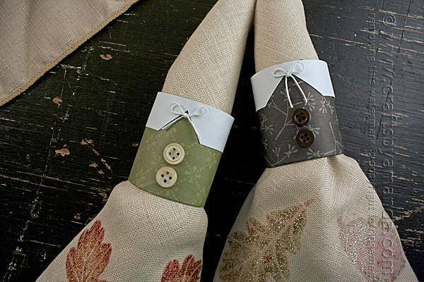 Pilgrim Napkin Rings Thanksgiving craft