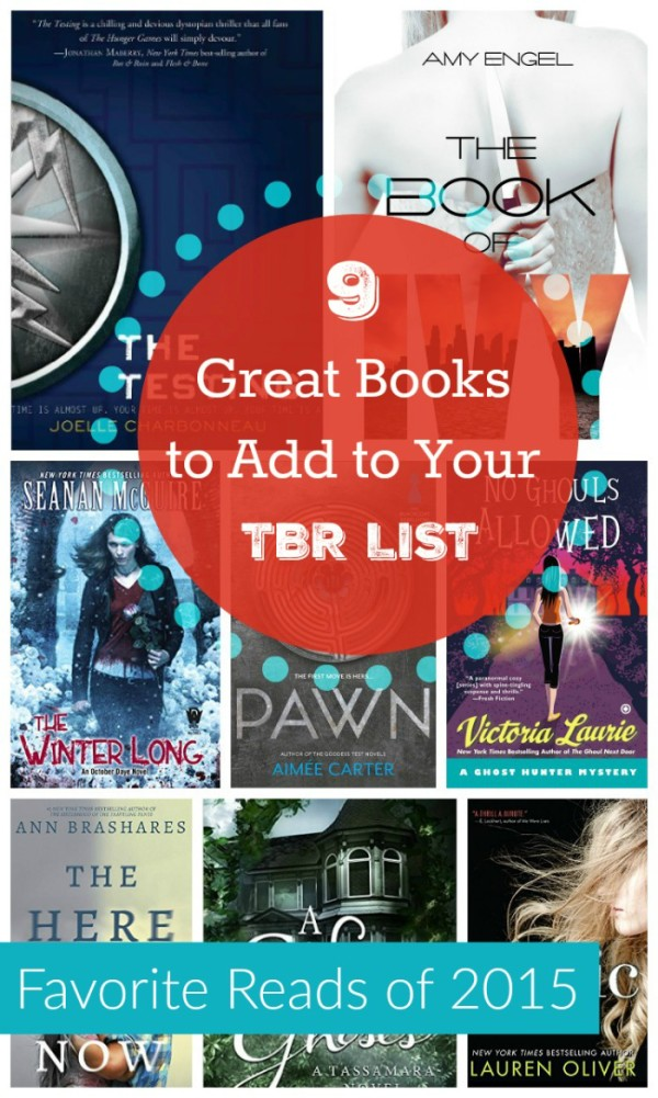 Looking for a few great books to add to your TBR pile for 2016? These are my favorite books that I read in 2015. Some are older, some came out this year. All are terrific reads!