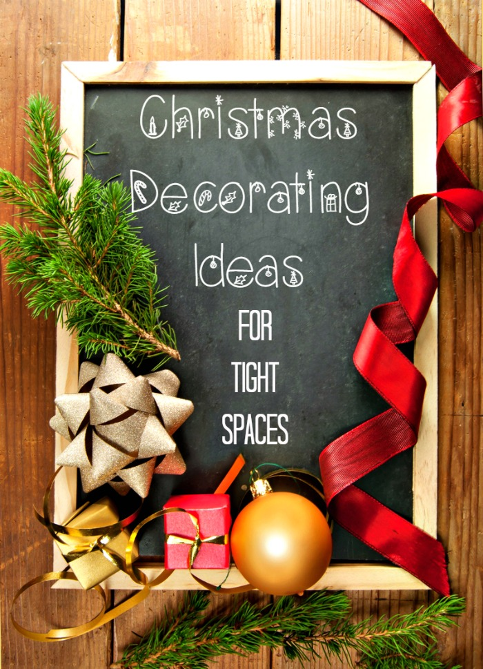 Got the decorating bug but can't find a single surface left to put that giant singing Santa? Don't feel bad, I'm in the same boat! I'm thinking outside the box (and off the mantle) with these ideas for Christmas decorating in small spaces and cluttered homes.