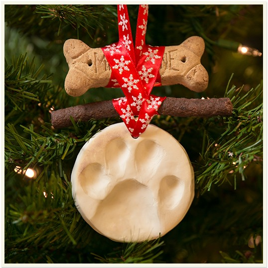 Making a DIY Dog Print Ornament is a fun way to include your dog in the holidays!