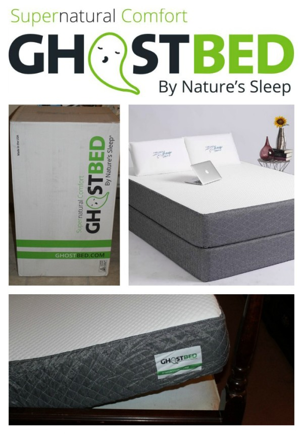 Get a supernaturally good night's sleep with GhostBed by Nature's Sleep! Order online and it comes right to your door! Check out my review, plus see how you can save $50 off your purchase!