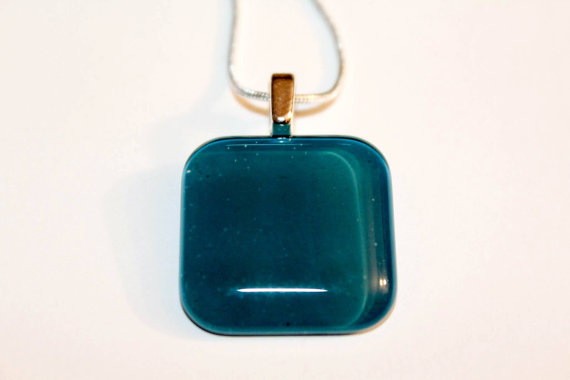 Square Glass Blue Green