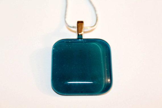 Square Glass Blue Green