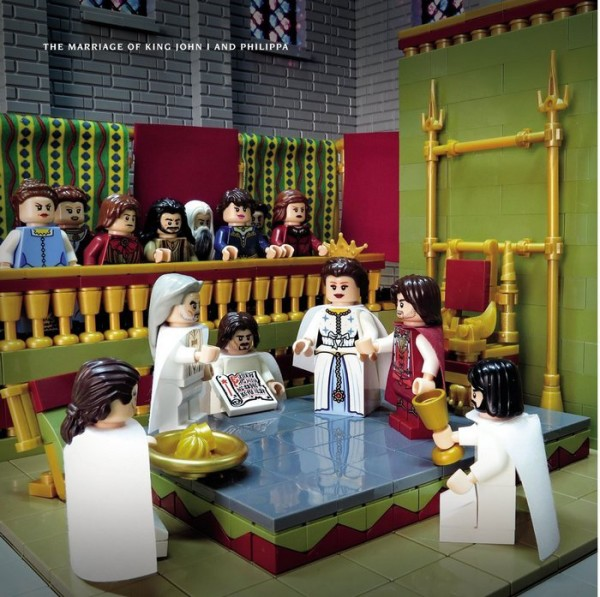 medieval LEGO scene a