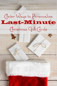 personalized last minute gift card ideas