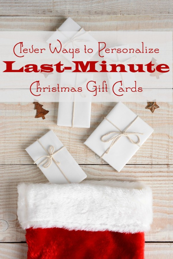 You can give a personalized gift card with meaning, or in a meaningful way, without venturing further than your local grocery store or drug store. Check out some great personalized last-minute gift card ideas that totally rock.