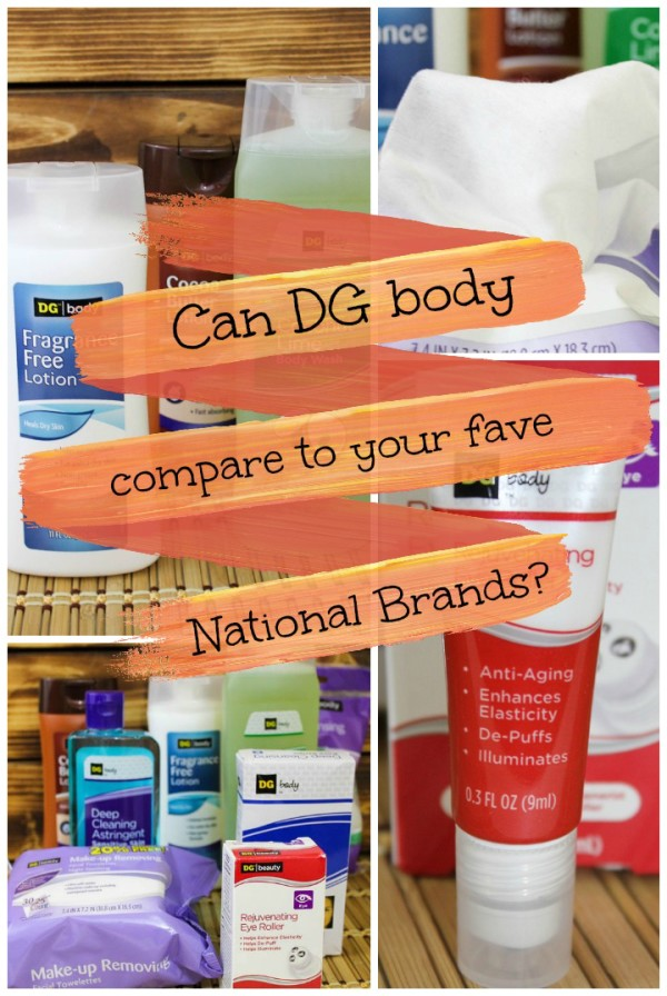 How do DG Body products stack up against their national brand counterparts? I took the challenge to find out! Check out my results!
