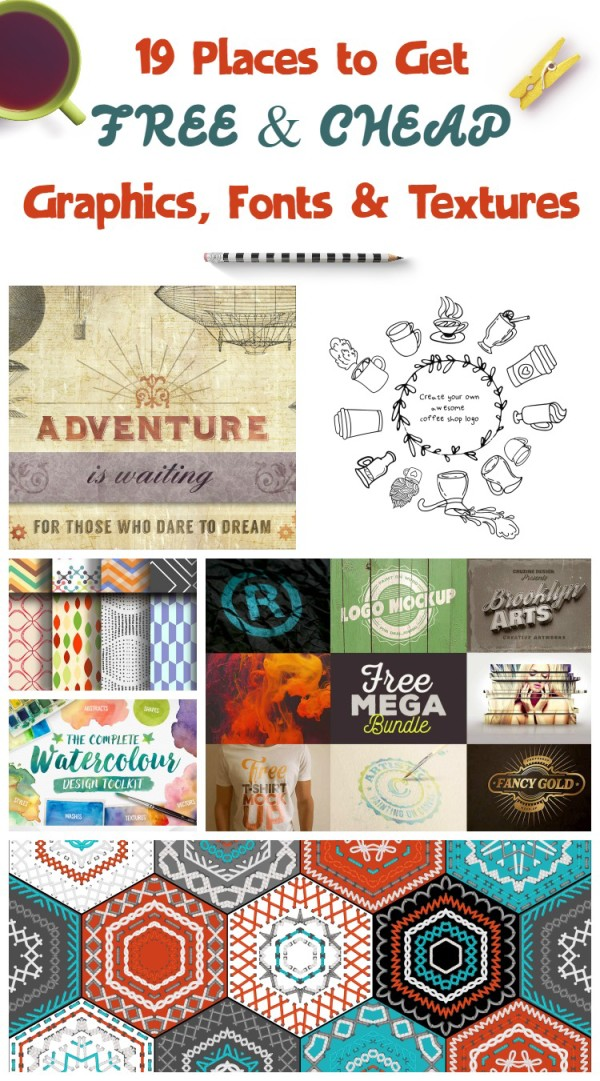 Looking for amazing free or super cheap graphics, textures and fonts for your blog graphics, scrapbooking projects or even your PTO newsletter? Check out 19 sites that really get it right. No junk, no spam sites and no viruses!