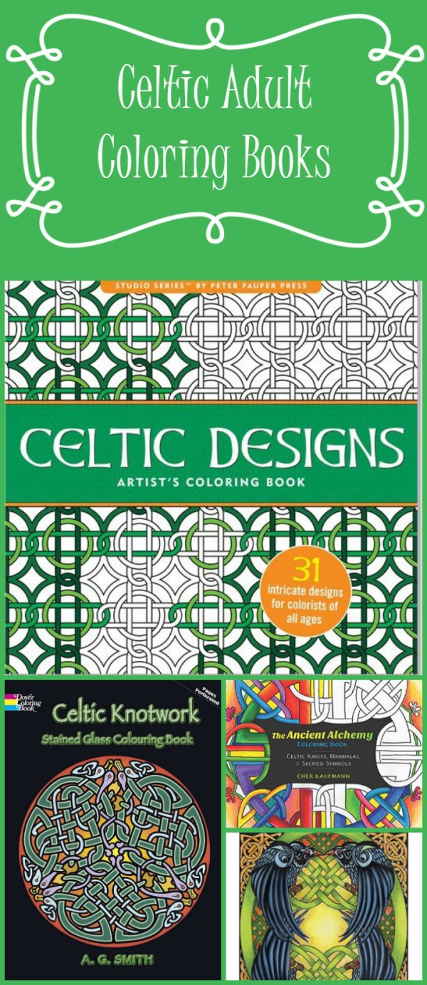 Celebrate St. Patrick's Day & show off your Irish pride while relaxing with these 5 amazing Celtic adult coloring books! Plus check out a few great free Irish coloring pages too!