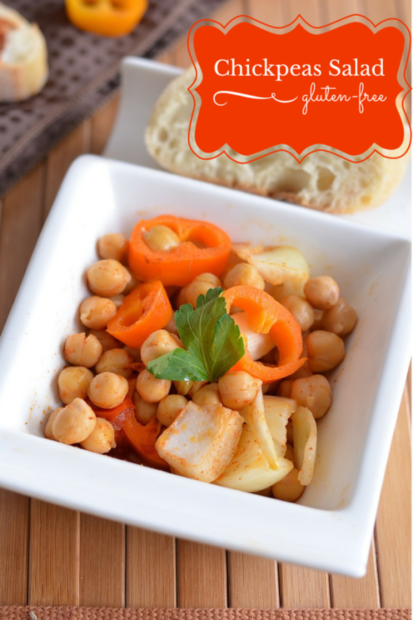 Gluten-free super bowl snacks: Chickpeas salad recipe from OurFamilyWorld