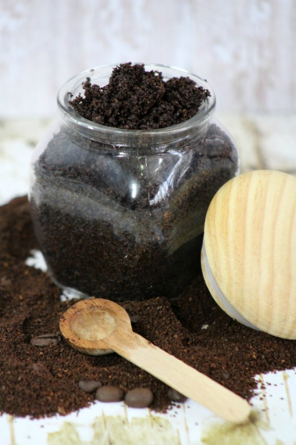 Brilliant Uses for Coffee include making a coffee scrub recipe, like this one from OurFamilyWorld.com!