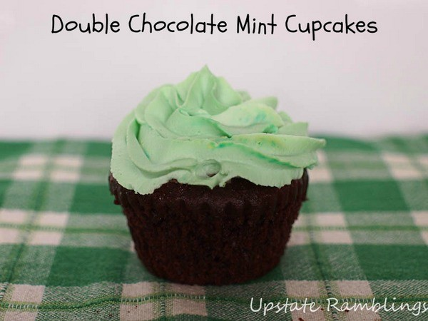 Double chocolate mint cupcakes