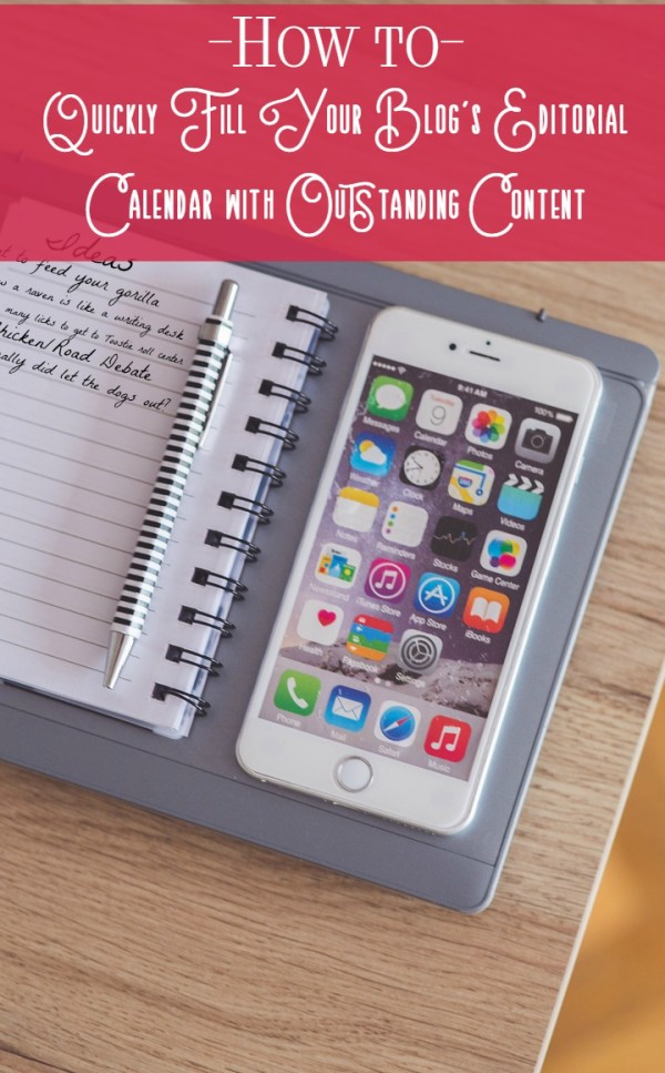 Need help coming up with great blog content ideas for your editorial calendar ? Check out my secrets to filling four editorial calendars fast every month!